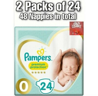 £15.99 • Buy 2X Pampers Premium Protect Micro Size 0 Newborn Nappies 24s