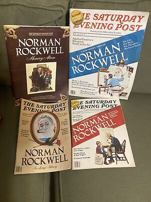 $ CDN10.59 • Buy Lot Of 4 The Saturday Evening Post Magazines Back Issues Norman Rockwell Artist
