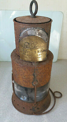Rare Antique 19th C Ships Signal Lantern / Lamp- Millers Royal Letters Patent • 90£