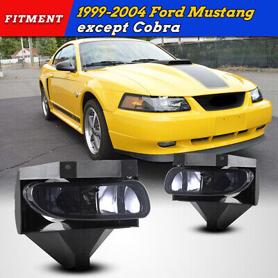 $27.24 • Buy Fog Lights For 99-04 Ford Mustang Smoke Lens Assembly Driving Lamp Replace PAIR