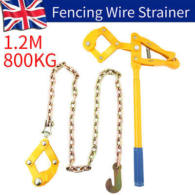 £24.30 • Buy 800KG Farm Fence Strainer Fencing Repair Wire Pulling Tool Tensioner 1.2M Chain