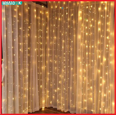 LED Curtain Lights Fairy Garland String Light Icicle Christmas Indoor Outdoor    • 48.50£