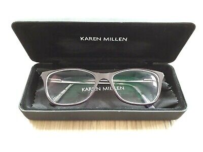 Karen Millen KM 60 Purple Tortoiseshell Glasses Frames With Case And Cloth • 12.99£