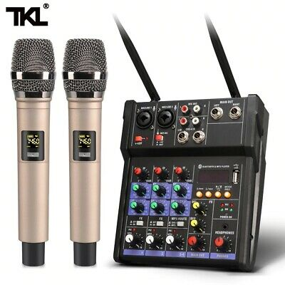 £91.33 • Buy TKL4 Channel Audio Mixer Console Wireless Microphone Sound Mixing With Bluetooth