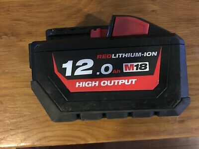 AU152.50 • Buy Genuine Milwaulkee M18 12AH Red Lithium Ion Battery