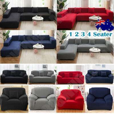 AU28.40 • Buy Sofa Cover Couch Lounge Protector Slipcovers High Stretch Covers 2 /3 /4 Seater
