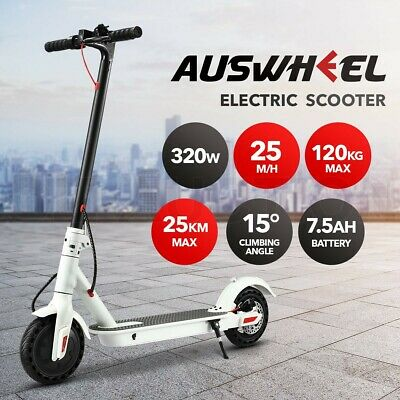 AU519.95 • Buy AUSWHEEL 320W Foldable Electric Scooter App Control Headlight LED Display White
