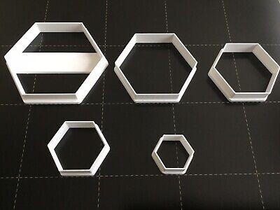 Set Of 5 Polymer Clay Cutters - Jewellery Making Hexagon • 6.99£