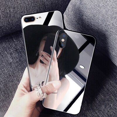 Girl's Mirror Makeup Phone Back Soft Case For IPhone SE2020 XR X 12 8Plus 12Pro • 3.69£