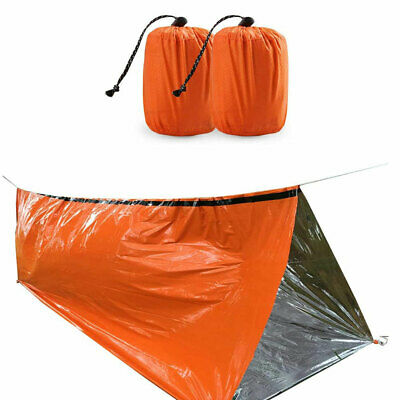 AU18.04 • Buy 2pcs Emergency Sleeping Bag Thermal Shelter Tent Outdoor Camping Survival AU