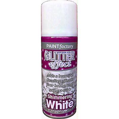 Shimmering White Glitter Effect Colour Spray Can Paint Decorative Creative Craft • 5.50£