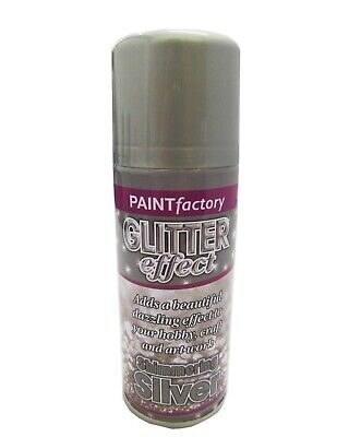 Shimmering Silver Effect Color Spray Can Paint Decorative Creative Craft • 5.50£