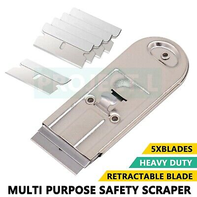 AU5.99 • Buy Safety Scraper Razor Box Cutter Paint Window Oven Glass Cooktop Blade Cleaner AU