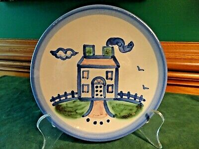 $8.95 • Buy M. A. Hadley Hand Painted Stoneware 6  House Bread Dessert Plate, Signed