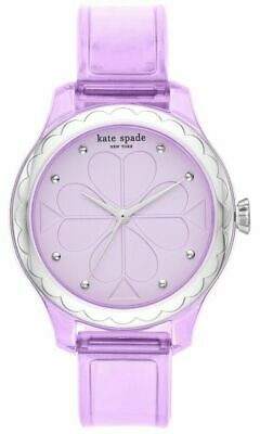 $ CDN50.12 • Buy NWT 🦄 KATE SPADE KSW1604 Rosebank Clear Purple Polyurethane Band 32mm Watch