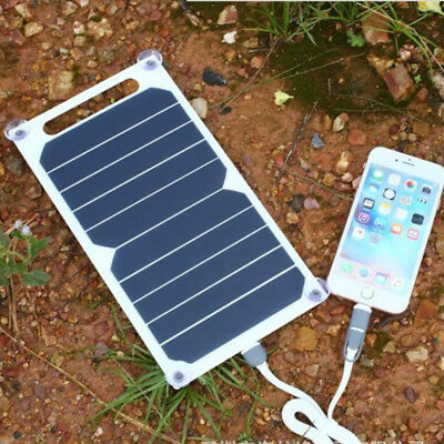 AU26.81 • Buy Ultra-thin Outdoor Emergency Solar USB Charger Power Bank Charging Panel 10W AU