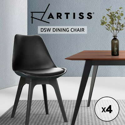 AU145.95 • Buy Artiss Dining Chairs Set Of 4 Replica Chair Retro Eiffel DSW Cafe Black
