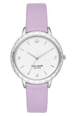 $ CDN85.17 • Buy NWT KATE SPADE KSW1625 Lilac Leather StrapSilvertone Stainless Steel38mm Watch