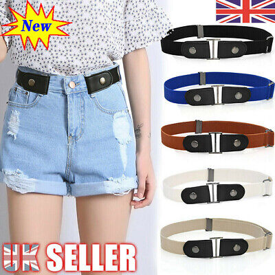 Fashion Women Buckle-free Elastic Invisible Waist Belt For Jeans No Hassle Bulge • 3.29£