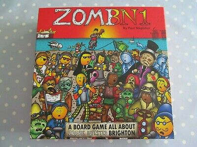Zombn1 Board Game By Bedsit Games Zombie Infested Brighton Complete Vgc • 30£