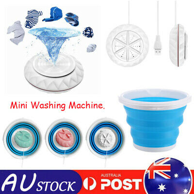 AU52.99 • Buy Portable Travel Folding Washing Machine Automatic Mini Bedroom Laundry Tub Basin