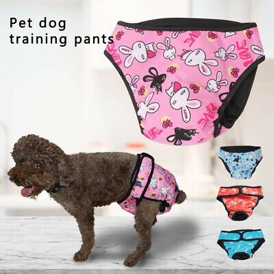 Female Pet Dog Physiological Pants Sanitary Nappy Diaper Shorts Underwear XS-XXL • 5.38£