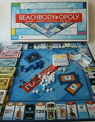 £5.45 • Buy Beachbody Opoly Family Board Game - Very Good Condition - Fitness Shakeology