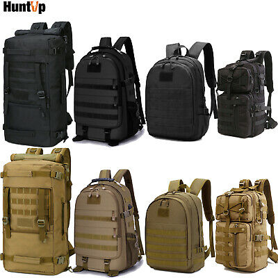 30L/40L/50L Military Tactical Backpack Molle Army Rucksack Hunting Camping Bag • 26.39£