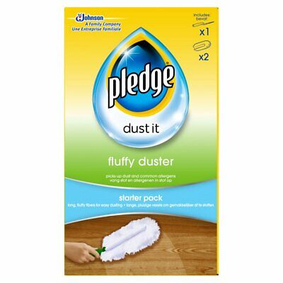 Pledge Dust It Fluffy Duster Starter Pack - 2 Reffil - Free Delivery • 6.99£