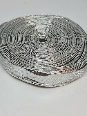 Silver Embroidery Indian Sari Border Lace Ribbon Trim Craft Roll  • 10£