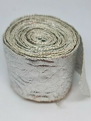 Silver Embroidery Indian Sari Border Lace Ribbon Trim Craft Roll  • 2£