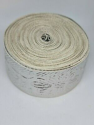 Silver Embroidery Indian Sari Border Lace Ribbon Trim Craft Roll Large • 6.50£