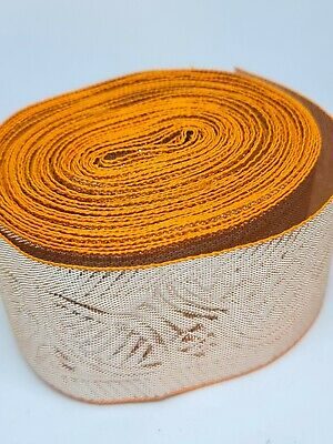 Silver And Orange Embroidery Indian Sari Border Lace Ribbon Trim Craft Roll  • 5£