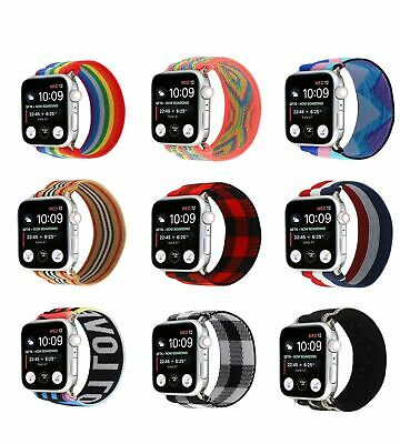 AU11.99 • Buy Elastics Nylon Loop Band Strap For Apple Watch Series 6/5/4/3/2/1/se 40/44mm