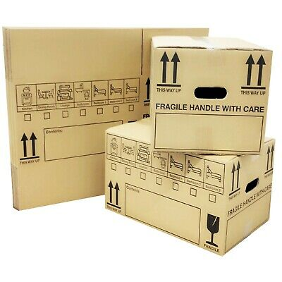 NEW *20 X LARGE Cardboard House Moving Boxes - Removal Packing Box *OFFER* 24HRS • 19.07£