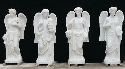$18500 • Buy Beautiful Hand Carved 72  Marble 4 Season Estate Statues - M4s1