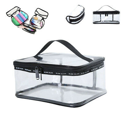 $4.73 • Buy Clear PVC Travel Zipper Wash Bag Holder Pouch Bags Cosmetic Makeup Toiletry