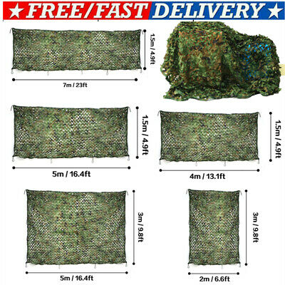 £9.49 • Buy Camo Net Camouflage Netting Hunting/Shooting Hide Army Camping Woodland Netting^