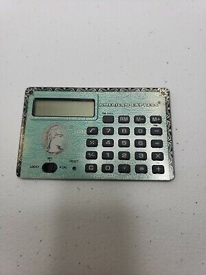 Vintage American Express Metal Calculator Credit Card Size With Case • 5.49£