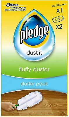 Pledge Fluffy Dusters Starter Kit Dry Dusting Cleaning Cloth Refill Pack  • 7.49£