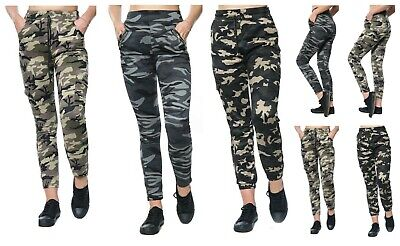 £7.99 • Buy Ladies Camouflage Army High Waist Casual Trouser Legging With Side & Zip Pockets