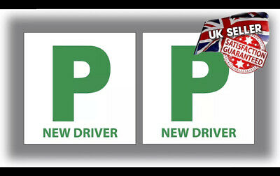 2X New Driver P Plate Stickers Safety Car Learner Just Passed Magnet Legal Signs • 3.99£