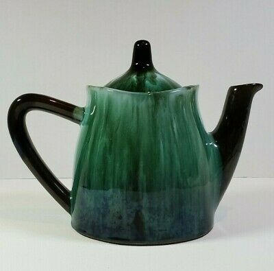 $ CDN12 • Buy Blue Mountain Pottery Teapot Vintage Blue And Green Pottery BMP Canada