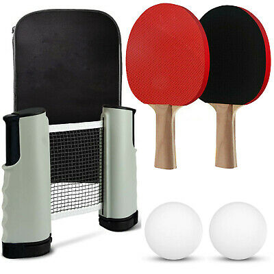 Instant Table Tennis Game Indoor Portable Travel Ping Pong Ball Set Extendable • 9.95£