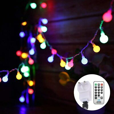 Globe String Lights Mains Powered 13M/43ft 100 LED Outdoor Fairy Lights...  • 22.49£