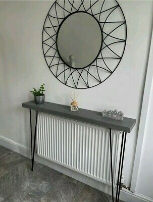 Chunky Rustic Hairpin Console/ Hall Table/ Radiator Cover- Industrial Style • 66.99£