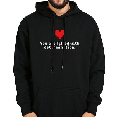 $ CDN35.06 • Buy You Are Filled With Determination Hoodie Undertale Funny Game Hoody Black Gray