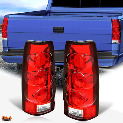 $38.89 • Buy For 88-00 Chevy C/K Pickup Altezza Euro Tail Light Rear Stop Lamp Red/Clear Lens