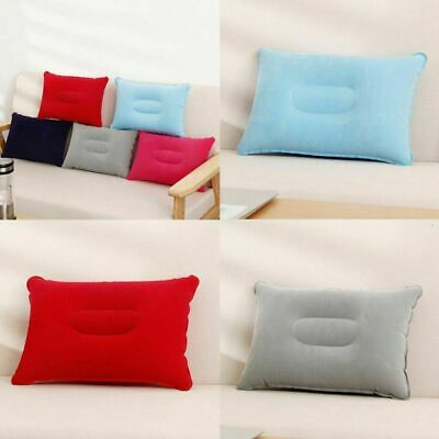 AU10.99 • Buy Inflatable Pillow Portable Camping Airplane Travel Air Neck Head Rest Cushion