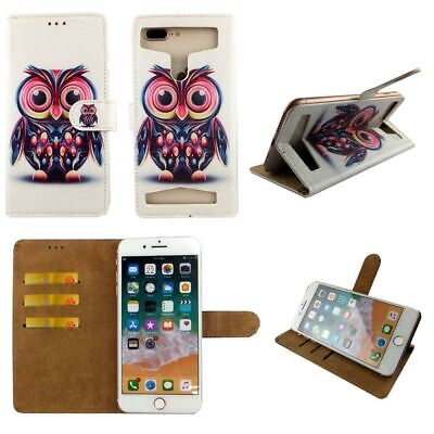Premium Leather Mobile Phone Owl Wallet Book Case For EE Hawk Mobile - M • 7.99£
